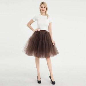 Image 4 - Knee Length Net Tulle Petticoat Womens 50s Petticoat Skirts Vintage Rockabilly Tutu Crinoline Underskirt for Women CQ046