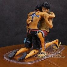 Anime Een Stuk Dramatische Showcase Luffy Ace 5th Seizoen Vol.1 Pvc Figures Collectible Model Toys 2 Stks/set