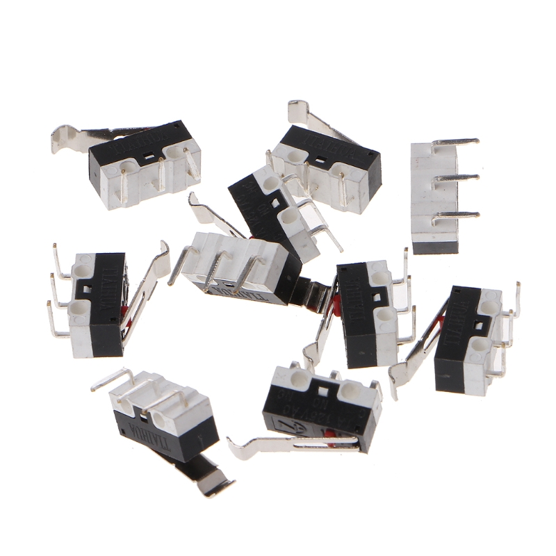 10Pcs Mechanical Limit Switch Endstop Micro Switch For 3D Pinter Delta Kossel M5TB