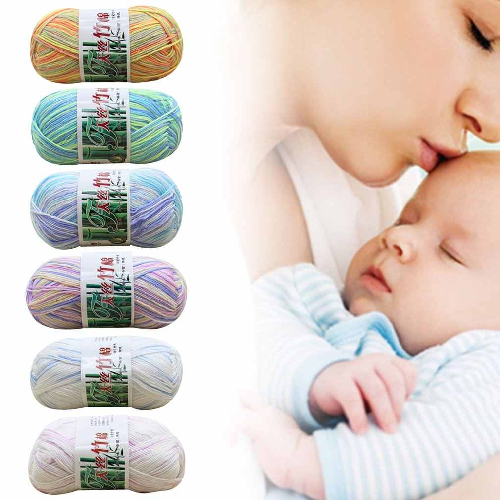 Hilado de Tencel suave hilo de múltiples hilos hilo de tejer a mano hilo de ganchillo para bebé hilo de lana tejido de bambú algodón seda línea de punto