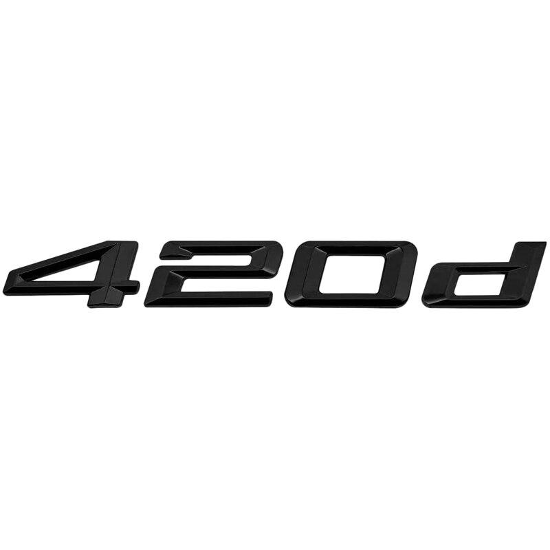 Gloss Black 435i Car Badge Emblem Model Numbers Letters For 4 Series F32 F33 F36 G22 G23 G26
