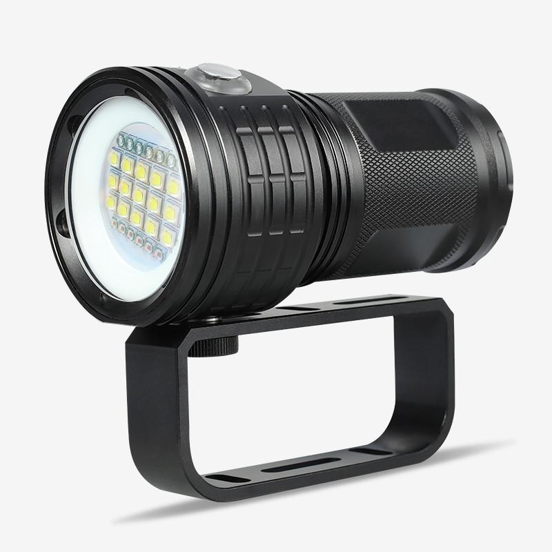 Lampe de poche de plongée professionnelle XML-L2 torche de plongée Portable 80M sous-marine IPX8 étanche 18650 lampes de poche lampe lanterne