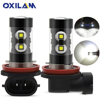 OXILAM 2x Canbus H9 H8 H11 LED Fog Light Bulb For BMW E46 E90 E60 E39 E87 X5 E53 E70 E36 X3 E83 E34 E92 E38 F30 F10 Car DRL Lamp image