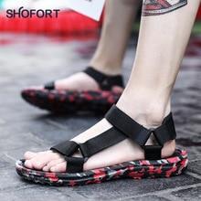 SHOFORT męskie buty oddychające dzikie męskie sandały fajne letnie męskie Plus rozmiar wyjściowy modny Casual buty na plażę Zapatos De Hombre