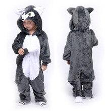 Boys Girls Pajamas Children Onesie Kigurumi Cartoon Animals Pijama Flannel Pajama Kids Pajama Halloween Cosplay Hooded Sleepers