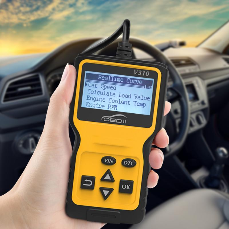 OBD2 Scanner Multi Languages Car Diagnostic Tool Mini V310 OBD Code Reader Car Engine Fault Diagnostic Tool Car Accessories