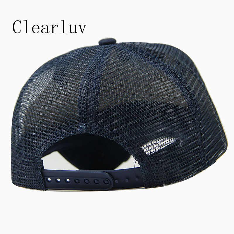 אופנה רקמת בייסבול Caps גברים נשים Snapback היפ הופ כובע קיץ לנשימה רשת שמש Gorras יוניסקס כובעי Streetwear