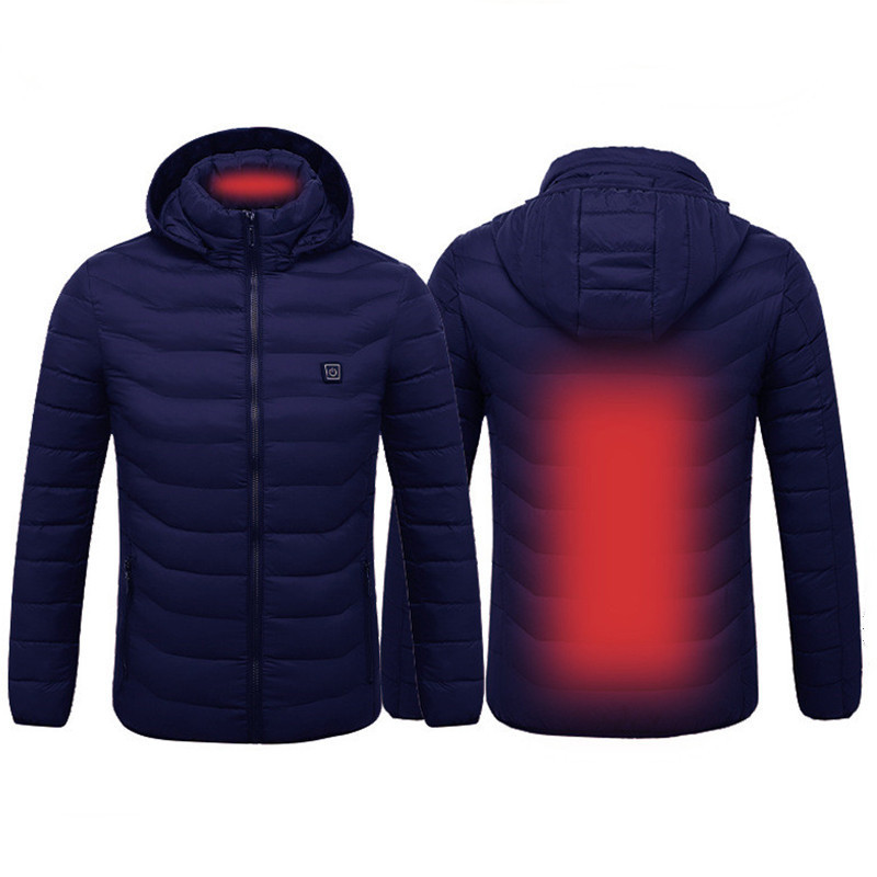 Men&women Intelligent Heated Jackets  Winter Outdoor Hooded Waterproof Jackets Thermal Warm USB Heating Quickly Hiking Jackets