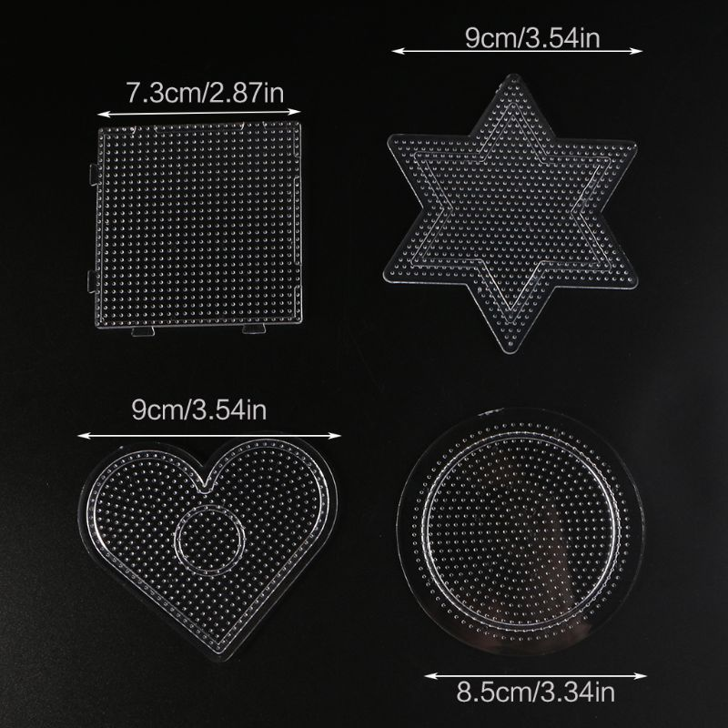4Pcs Diy Transparent Shape Puzzle Template For 2.6mm Hama Beads Perler Beads Y4QA