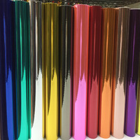 1.52*25M High stretchable silver Chrome Air Bubble Free Mirror Vinyl Wrap Film Sticker Sheet Car Bike Motor Body Cover