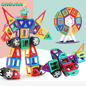 10-252pcs Magnetic Building Blocks Model & Building Construction Toys Magnetic Designer Educational Toys for Children Gifts недорого