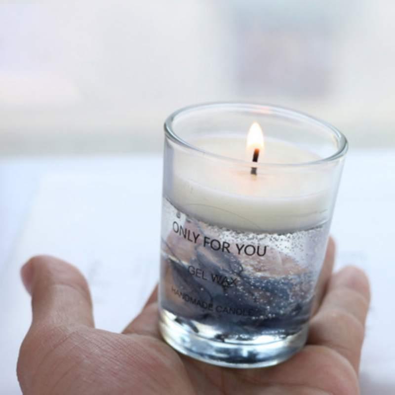 Bougie fleur séchée fleur éternelle bougie parfumée parfum bougie tasse cire de soja bougie décoration-
