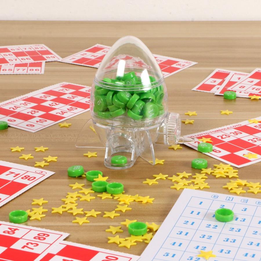 LOTTO Bingo Draw Machine Lottery Board Game Tombola Machine For Children Family Interactive Game Kids Toys