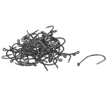 50 x Chemically Sharpened Octopus Circle Fishing Hooks Tackle black