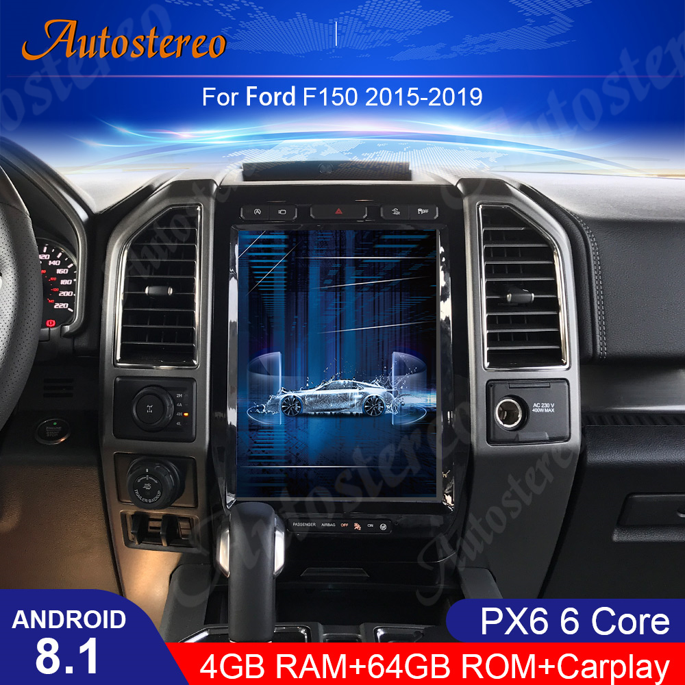 Android 9,0 Tesla Stil Auto GPS Navigation <font><b>F</b></font>ür Ford F150 2015-2019 Auto-Multimedia-Player Radio Band Recorder Steuergerät carplay HD image