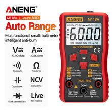 ANENG M118A – multimètre numérique à mesure automatique, haute précision, TRMS 6000 points, tension/courant/Ohm/Diode de capacité