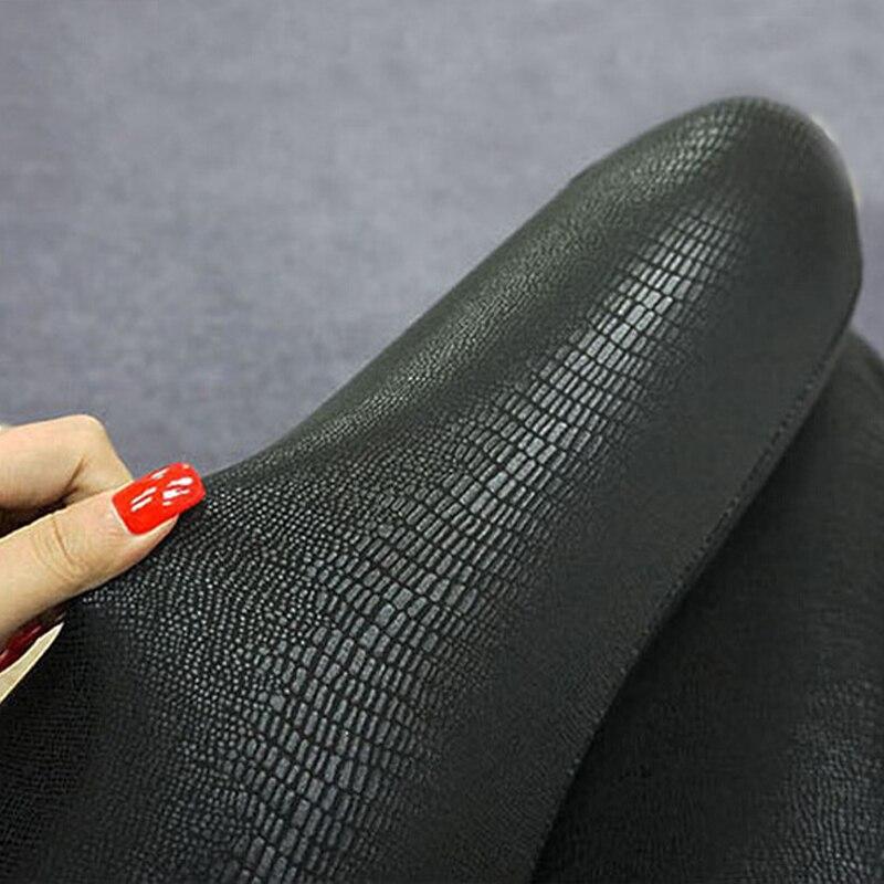Spring All Match Women Slim Snake Skin Type Leggings Faux Leather Streetwear Legwear For Girls Fashion Female Leather Pant