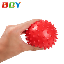 BQY Baby Textured Multi Sensory Massage Ball Knobby Balls Assorted Colors Bounce Ball Sensory Spikey Ball