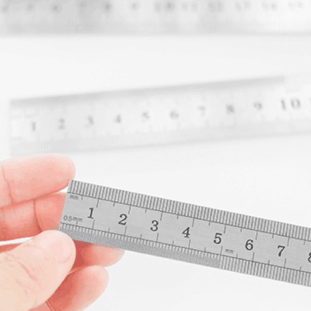 Stainless Steel Metal Ruler 30CM Straight Ruler Measurement Double Sided for Sewing Foot Sewing & School Stationery 3
