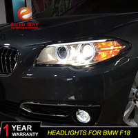 Car Styling Car Headlights Case For BMW F10 F18 Headlights 2011 2013 LED Angel eyes headlight for 520 523 525 Bi Xenon
