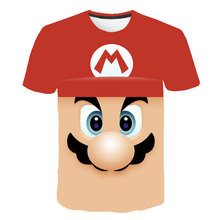Summer Fashion T-shirt Cartoon Super Mario M L W 3D Print Mens Womens Kid t shirts Camisetas Hombre Plus Size S-6XL
