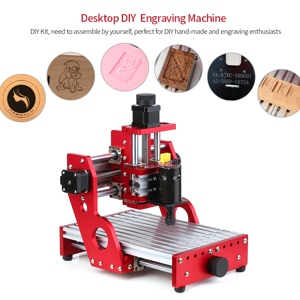CNC 1419 Metal Engraving Cutting Machine Router Desktop DIY Milling Machine Aluminum Copper Wood PVC PCB Machine GRBL Control