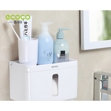 Home Suction Cup Paper Towel Holder Bathroom Tissue Box  Tray Waterproof Toilet wall paper bathroom