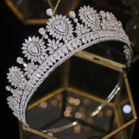 Neue mode Barock mode braut tiara crown hochzeit zubehör party kristall kopfschmuck hochzeit haar zubehör stirnband