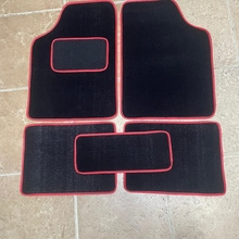 Alfombrilla familiar para Fiat 500, 5 unidades, Color negro