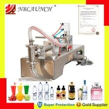 Máquina de llenado de líquidos, llenado de pistón neumático de agua, detergente para leche, champú químico, aceite de zumo, semiautomático, Ejuice Eliquid
