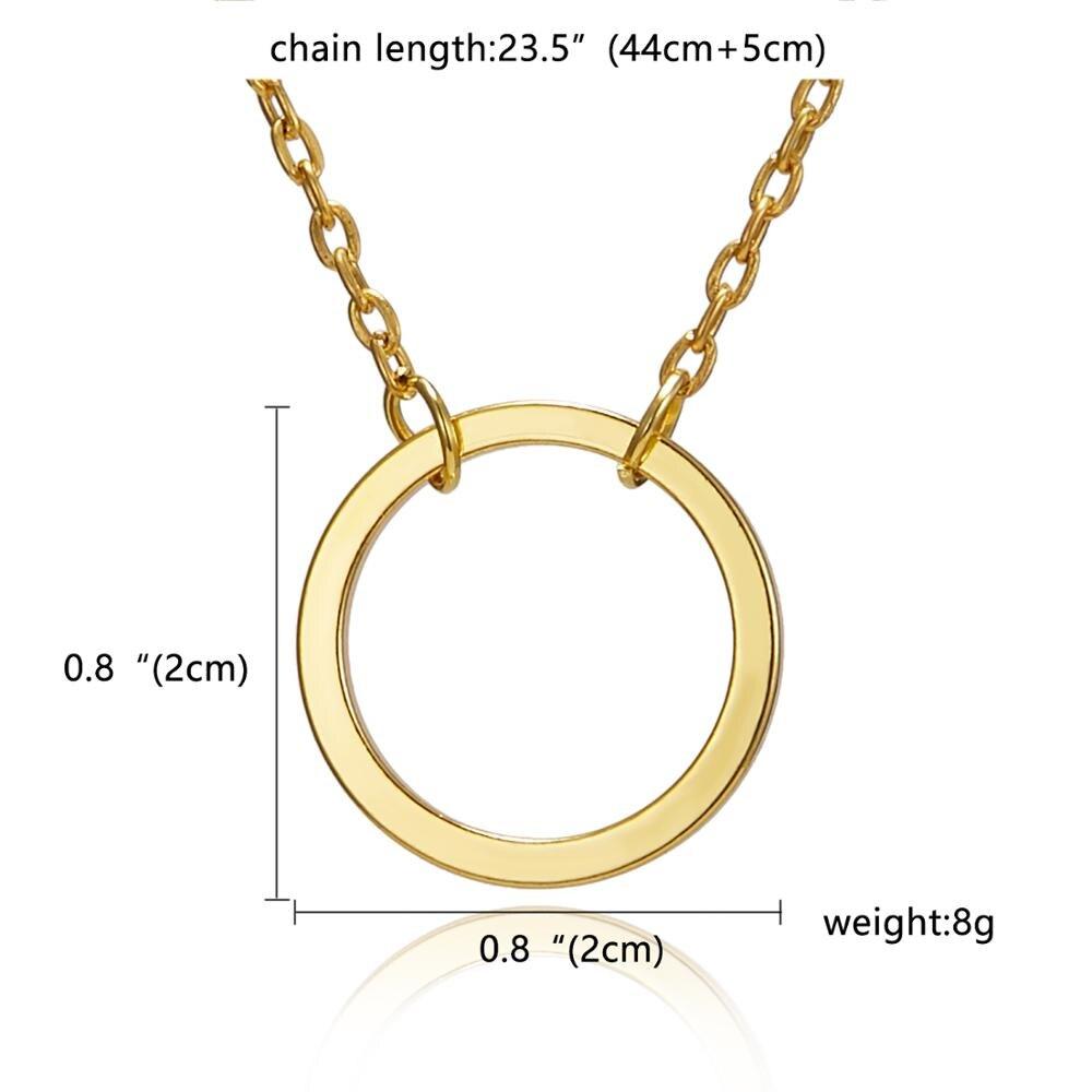 Rinhoo Karma, Двойная Цепочка, круглое ожерелье, золотое ожерелье с подвеской, модные цепочки на ключицы, массивное ожерелье, Женские Ювелирные изделия - Окраска металла: 9