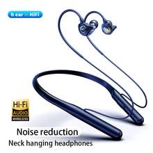 DDJ auriculares inalámbricos X12HIFI con Bluetooth, dispositivo estéreo de graves, reducción de ruido, para colgar en el cuello, deportivo magnético, con micrófono