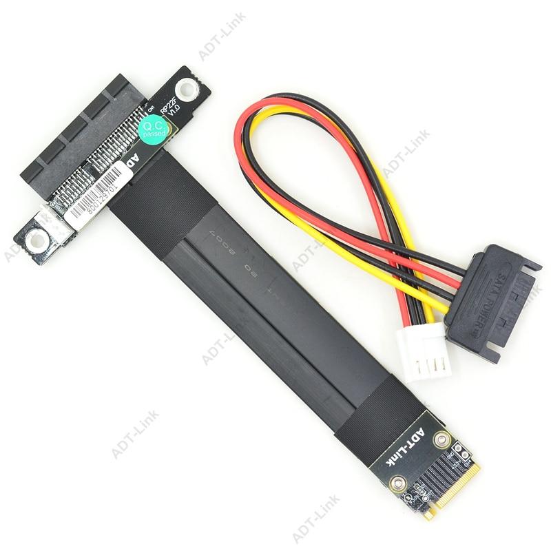 Image 5 - R42SF/R42SL/R42SR PCIe x4 3.0 Extension Cable PCI Express 4x To M.2 NVMe M Key 2280 Riser Card Gen3.0 Extender Line 32G/bpsComputer Cables & Connectors   -