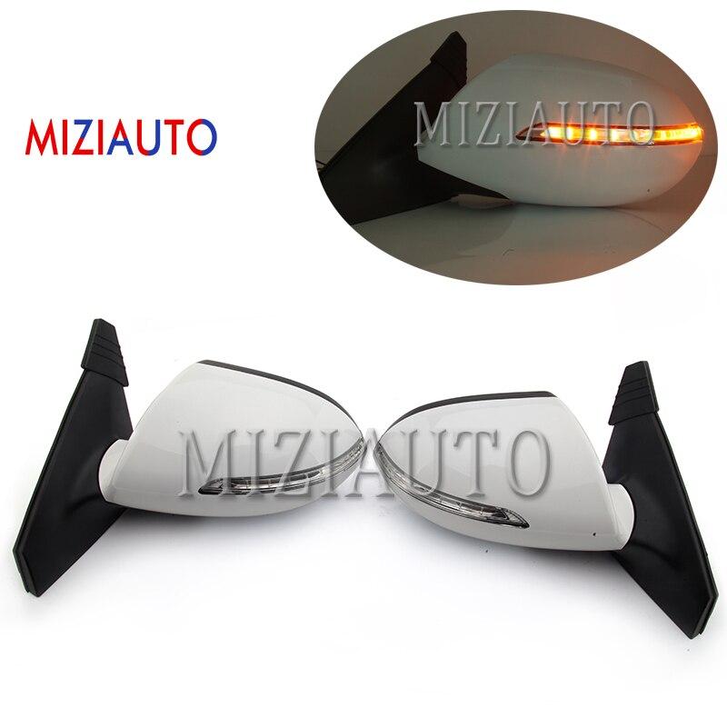 MIZIAUTO 7 Wire For KIA Sportage R 2011 2012 2013 2014 2015 2016 Outside Rearview Mirror Side Rear View Mirror Assembly