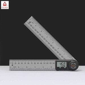 Image 1 - Youpinデュカ多機能デジタル表示角度定規ledディスプレイ360度測定304ステンレス鋼レーザーキャリブレーション