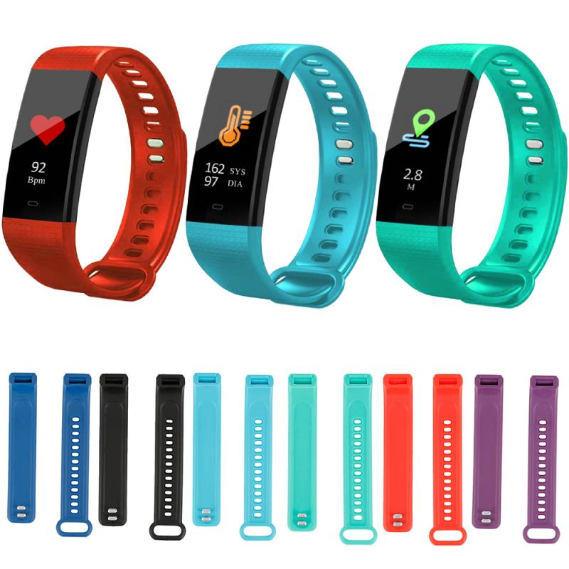 Smart Bracelet Silicone Strap Band For Y5 Smart Bracelet Sport Wristbands Comfortable Smart Wearable Accessories