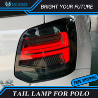 Car Tail Lamp Fit For Polo Tail Light 2011 2017 Rear Lamps for MK5 Red lens DRL+Signal+Brake+Reverse