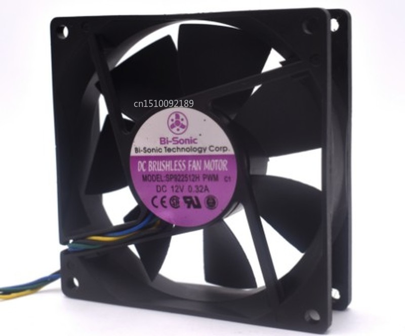 For Original BI-SONIC 9025 SP922512H PWM 90 * 90 * 25MM 2 Wire 4 Wire Chassis Hydraulic Fan Free Shipping