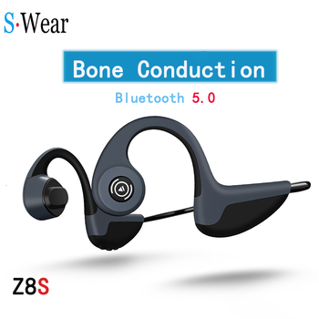 Bluetooth 5.0 S.Wear Z8 Wireless Headphones Bone Conduction Earphone Outdoor Sport Headset with Microphone Handsfree Headsets bluetooth 5 0 s wear z8 wireless headphones bone conduction earphone outdoor sport headset with microphone handsfree head