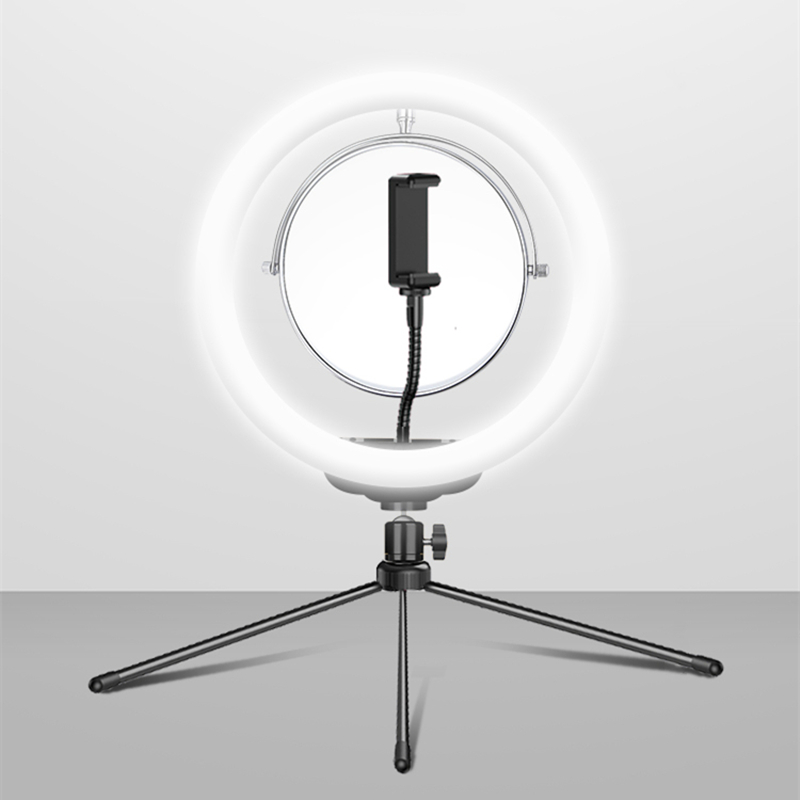 cheapest Ring Light 10inch With Tripod Stand Cell Phone Holder USB 3 Modes LED Light anillo de luz para telefono movil