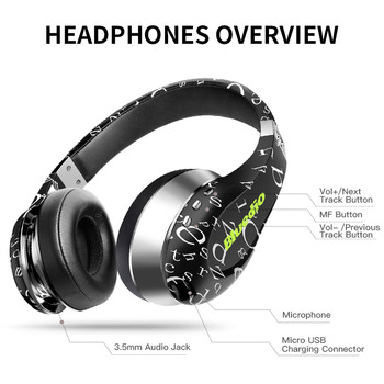 (Air) Bluetooth Headphones/Wireless Headset Fashionable Printed Wireless Headphone For Phone