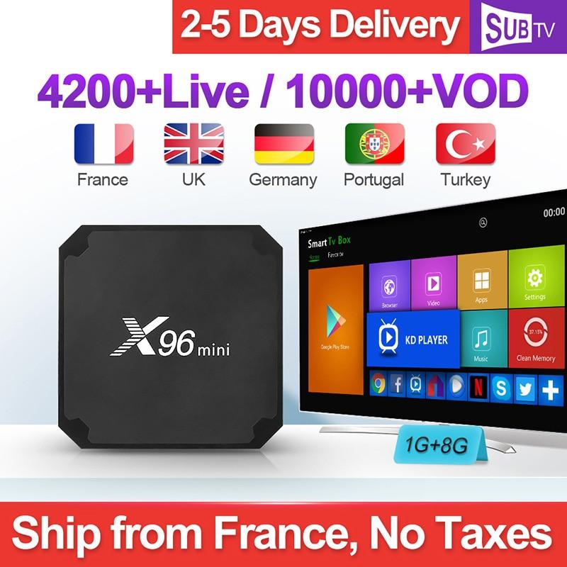 X96 mini IPTV ฝรั่งเศส Android 7.1 สมาร์ท WIFI 4K H.265 IPTV Media Player X96mini 1 ปี SUBTV รหัสภาษาฝรั่งเศสคำเบลเยียมอาหรับ IPTV Box-ใน กล่องรับสัญญาณ จาก อุปกรณ์อิเล็กทรอนิกส์ บน AliExpress - 11.11_สิบเอ็ด สิบเอ็ดวันคนโสด 1