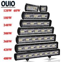 60 480W Light Bar Off Road 4x4 12V 24Vรถยนต์อุปกรณ์เสริม 4 23 นิ้วLED Work Light Bar Combo Beam Driving ATV SUV UTVรถบรรทุก