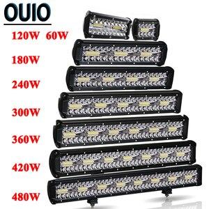 Image 1 - 60 480W Light Bar Off Road 4x4 12V 24V Car Accessories 4 23inch LED Work Light Bar Combo Beam Driving Lamp ATV SUV UTV Trucks