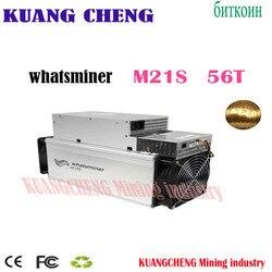 В наличии WhatsMiner M21S 56T Майнер M21S Sha256 Майнер Asic BTC BCH BCC Майнер лучше, чем S9 S11 S15 Z11 E12 E9I E9.3 Z1
