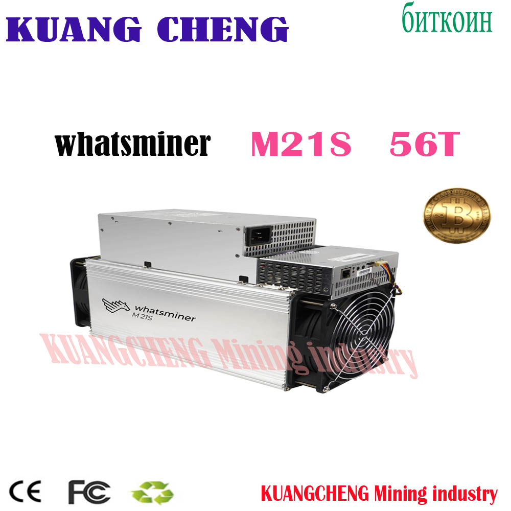 In Stock WhatsMiner M21S 56T Miner M21S Sha256 Miner Asic BTC BCH BCC Mining Machine  Better Than S9 S11 S15 Z11 E12 E9I E9.3 Z1