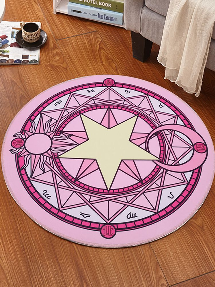 Carpets Round Living Room Non slip Carpet Computer Chair Area Rug Children Play Tent Floor Mat Cloakroom Rugs Pink Room Decor Rug     - title=
