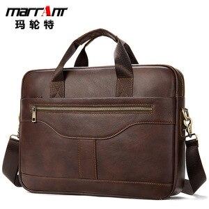 Мужской деловой портфель на плечо, сумка для ноутбука 15 6, держатель телефона, брелок , органайзер документов, мужская кожаная - мессенджер