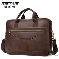 Men's Shoulder Man Business Briefcase Laptop Bag 15 6 Phone Holder Key Chai Chain Organizer For Documents Leather Messenger