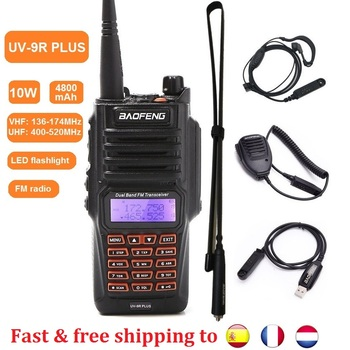 10W Baofeng UV-9R PLUS Portable Two Way CB Radio Station UV9R Waterproof Walkie Talkie VHF UHF Ham Transceiver 50km Xmas - discount item  57% OFF Walkie Talkie